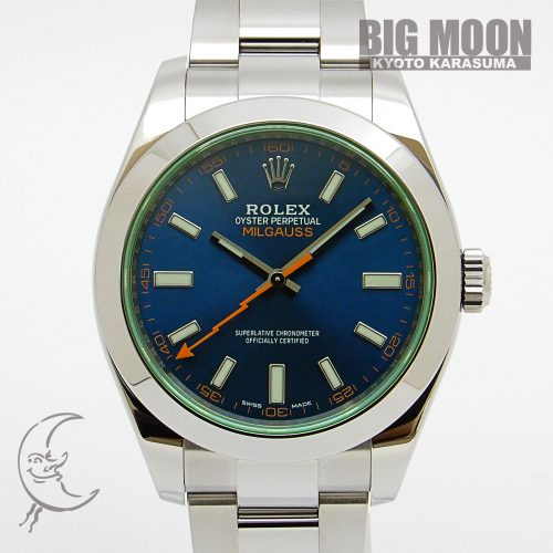 ROLEX ロレックス ミルガウス Zブルー グリーンサファイヤ 116400GV ランダムシリアル