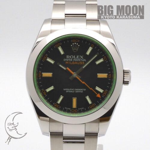 ROLEX ロレックス ミルガウス グリーンサファイヤ 116400GV V番